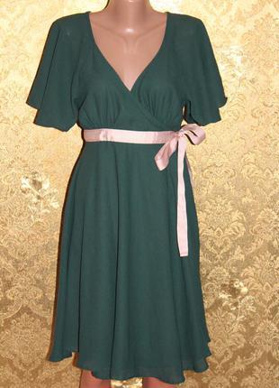 Трендовое, шифонове платье на запах от h&m, очень много вещей в наличии+скидки, заходите!