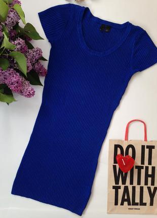Платье облегающее в рубкик h&m divided