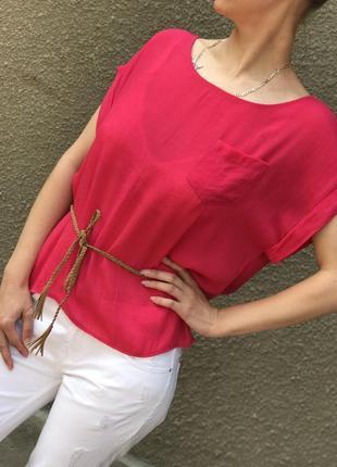 Блуза футболка с коротким рукавом в офис