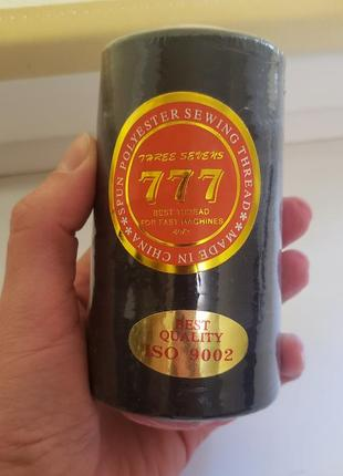 Нитки швейные черные 777 40/2