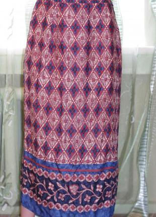 Летняя юбка - фасон запах - вискоза р. 10 - marks & spencer