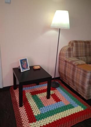 Коврик  ковер ручной работы, в детскую комнату, столовую, кухню, прихожую,спальню.