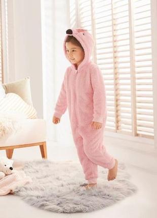 "Тёплый махровый кигуруми ""розовый фламинго""/ комбинезон / пижама / германия"