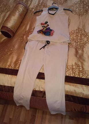 Крутий костюм італія, комплект  майка+штани / костюм нарядний