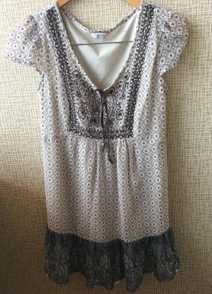 Легкое невесомое шифоновое платье туника
