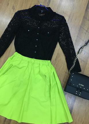 Салатовая юбка на резинке top secret