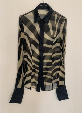 Брендовая  женская шелковая рубашка ferre