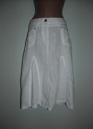 Белая marks spenker из 100% льна молодежная с карманами