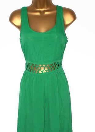 Яркое зеленое летнее платье topshop