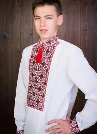 Подростковая вышиванка на 100%хлопке