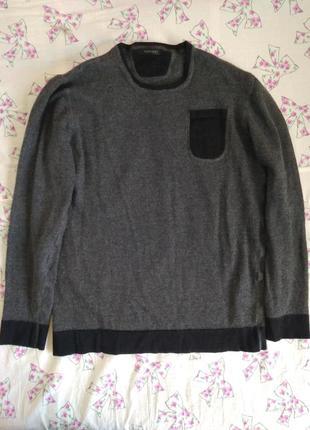 Свитер, пуловер, джемпер италия 100% шерсть мериноса