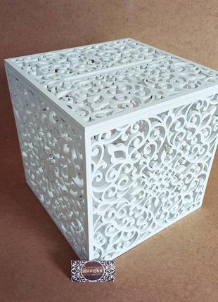 Шкатулка весільна коробка з дерева деревянная свадебная казна