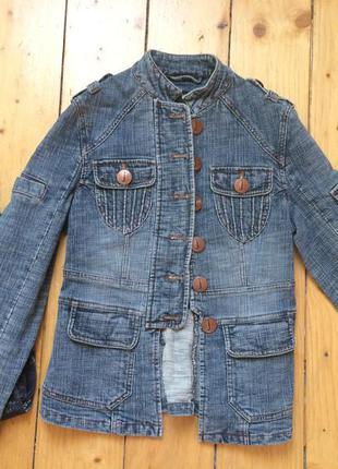 Модная джинсовая накидка куртка