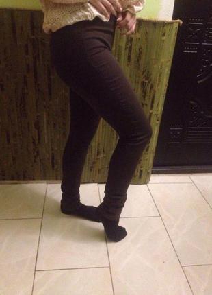 Коричнивые джинсы, штаны, скинни