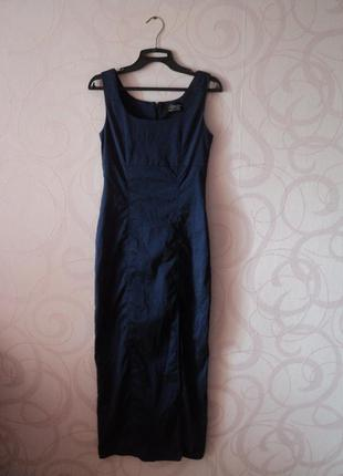 Вечернее платье с разрезом, шикарное платье на выпускной, винтаж, обтягивающее платье