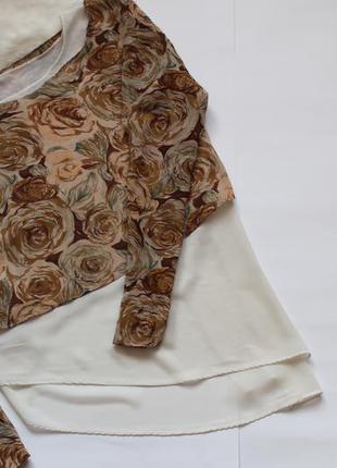 Нежная шифоновая двойная блуза  р. 38