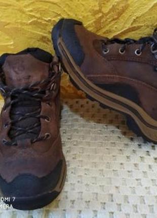 Кожаные трекинговыэ ботинки  timberland waterproof водонепроницаемые