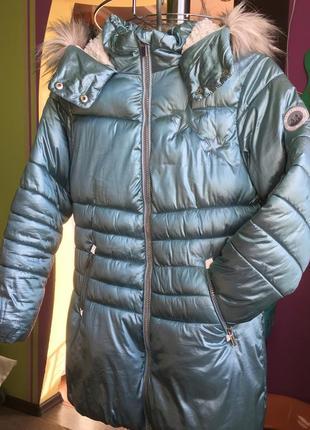 Зимняя куртка для девочки next 10 лет 140-146 см
