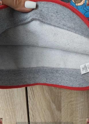 """Фирменная george толстовка/свитшот/тёплая кофта с начёсом """"марвел"""" на мальчика 4-5 лет8 фото"""