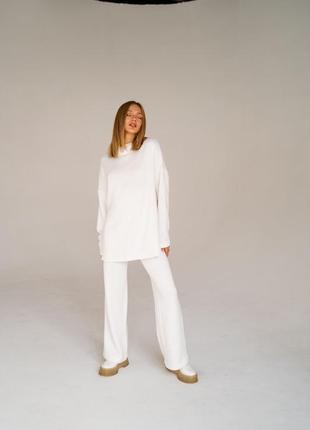 Ангоровый теплый костюм брюки и гольф