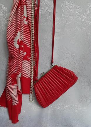 Сумка ссср редикюль поцелуйчик на длинном ремешке сумочка-кошелек винтаж ретро