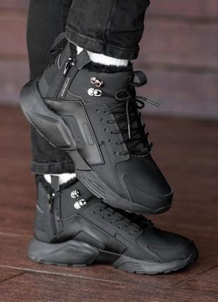 Шикарные мужские кожаные зимние кроссовки nіke air huarache acronym 😍 (на меху)