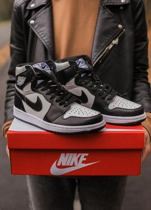 "Кеды air jordan retro 1 "" black white"""