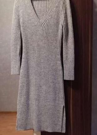 Натуральное , тёплое . шерстяное платье - миди next