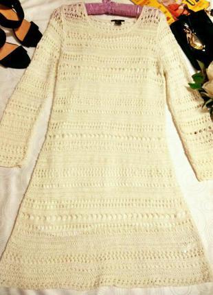 Красивое вязаное платье 10 размер