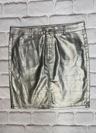 Мини юбка серебряная miss selfridge