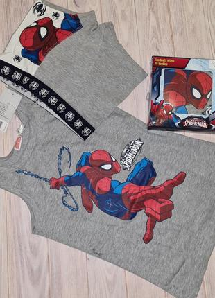 Комплект белья человек паук spider man, майка и трусы, lupilu мальчику 4-6, 6-8 лет