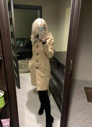 Теплое осенние пальто