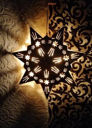 Декоративное освещение рождественская звезда