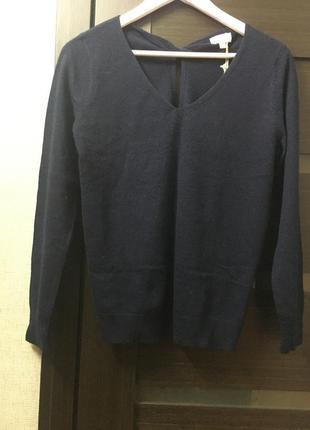 Пуловер шерстяной с v - образным вырезом milano