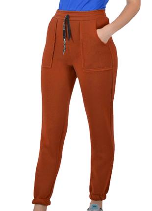 Теплые штаны на манжете, спортивные штаны на флисе, теплые брюки, р-р с 42 по 50