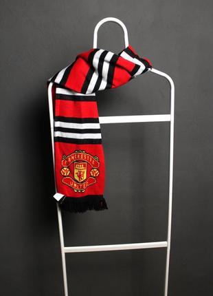 Футбольный шарф манчестер юнайтед  | mu |  manchester united
