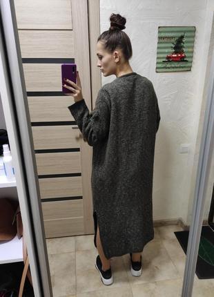 Длинный кардиган свитер пальто