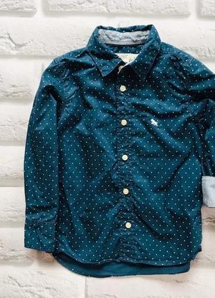 H&m стильная рубашка на мальчика 2-3 года