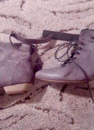 Ботиночки zarа из натуральной кожи
