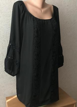 Gemma collins шифоновая блуза с кружевом батал