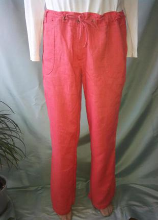 Для ценителей вещей из льна брендовые 100%- лен штаны