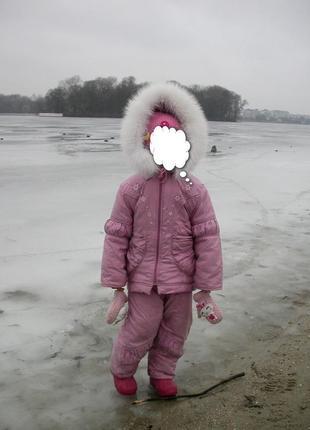 Польский зимний комбинезон на девочку 3-4года. рост указан 98см