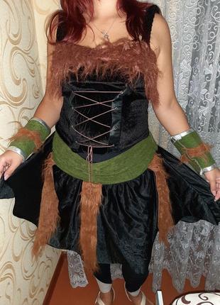Карнавальный костюм разбойница, робин гуд.