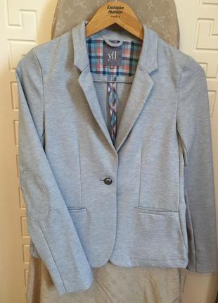 Серый пиджак с латками на локтях reserved