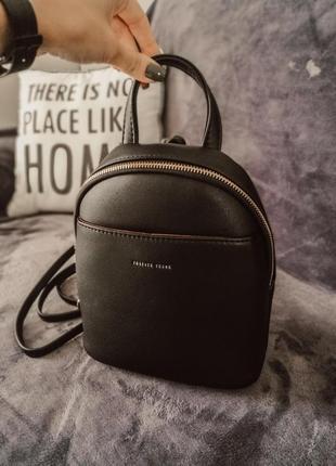 Мини рюкзак черного цвета
