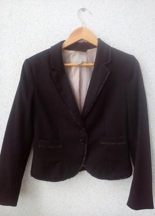 Черный классический пиджак h&m