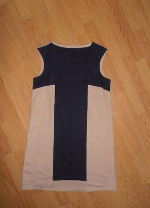 Стильное льняное платье прямого кроя