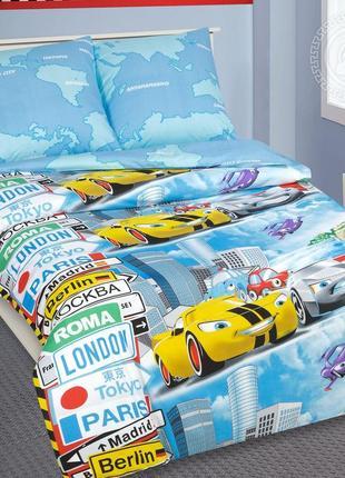 Суперкар -натуральное постельное белье из поплина