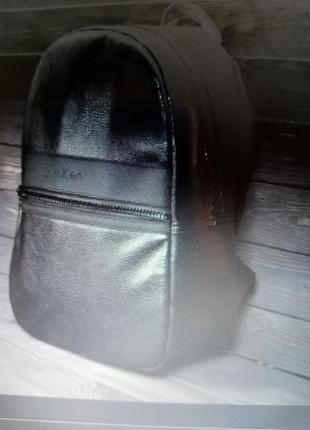 Рюкзак в стиле саlvin кlein (кельвин кляйн), черный унисекс