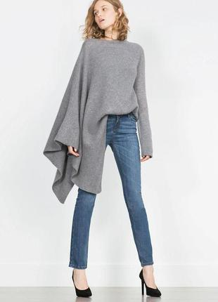 Прямые светло-синие джинсы zara